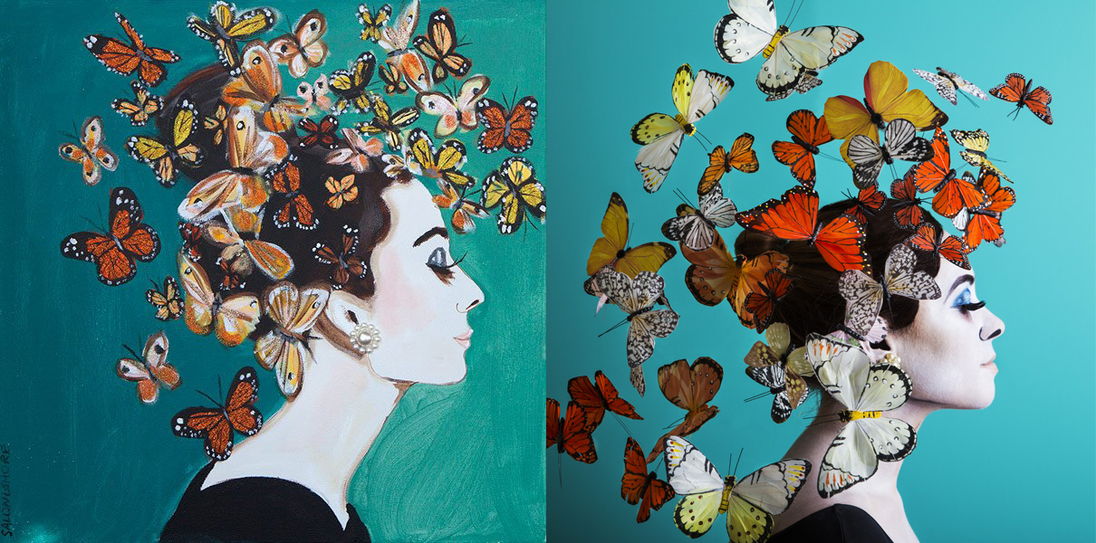 swarming-butterflies-side-by-side Britt Smith Photography Creative shoot