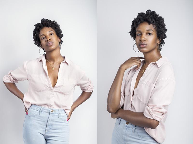 Britt Smith Photography, New Orleans photographer, model and singer Erika Flowers headshot model portfolio